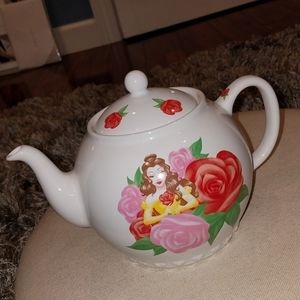 Authentic Disney Parks Ceramic Belle Tea Kettle